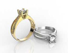M1199003 Engagement ring 3D printable model