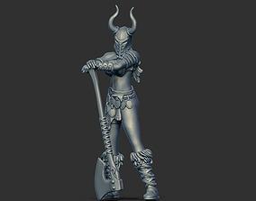 Barbarian woman - Irmine 35mm scale - 3D print model