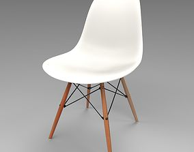3D Eames Plastic Side Chair DSW by Vitra