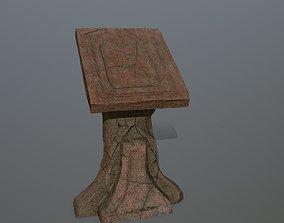 lectern 3D asset