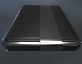 3D asset External Hard Drive Low Poly Dark Silver - 2
