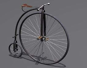 3D model vintage Penny Farthing Bicycle