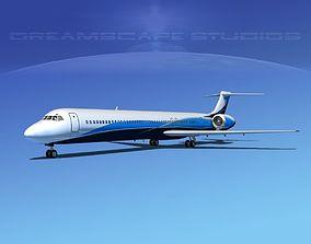 Douglas MD-80 Corporate 3 3D
