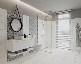 Perfect Pearl Bathroom Scene for Cinema 4D and Corona 3D