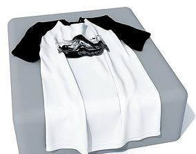 Black And White Cloth T Shirt 3D model