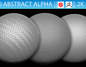 3D model 10 Abstract Alphas for ZBrush and Substance