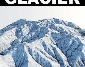 Glacier terrain 3D model