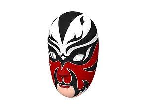 3D model Chinese Opera Mask
