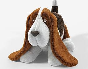 3D model Stuffed Toy Basset Hound