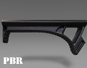Angled Grip - Foregrip - Weapon Attachment 3D asset 4