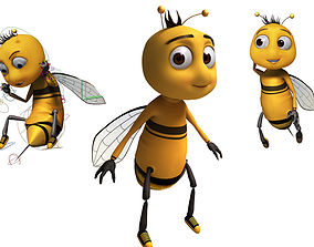 rigged Bee Cartoon Rigged model