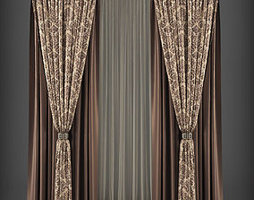 Curtain 3D model 262 game-ready