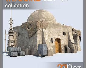 Tatooine Set - 01 3D model