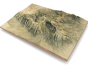 Mountain landscape 3D peak