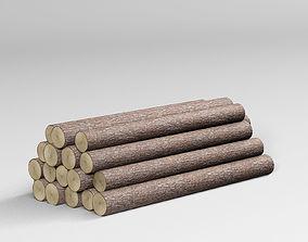 industrial Wooden Logs 3D model