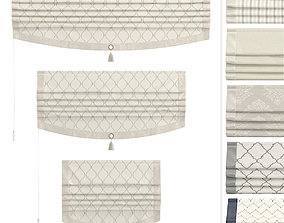 Roman Curtains Leene 3D asset