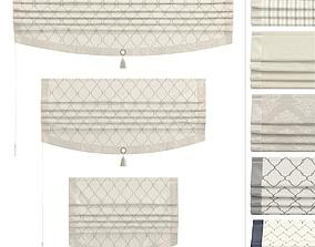 Roman Curtains Leene 3D asset