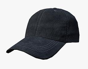3D asset Baseball cap - black