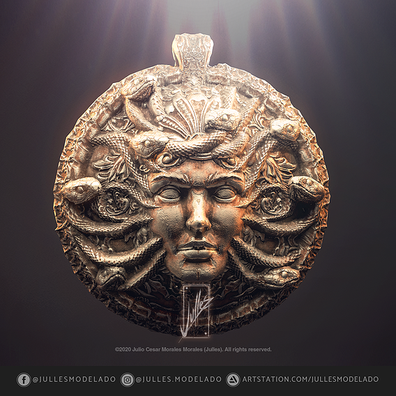 Pendant Head of Medusa