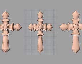 Christianity Jesus Christ Virgin Mary Cross 3D 2