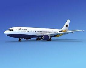 3D Airbus A300 Monarch 2