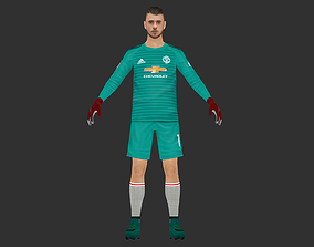 rigged David Degea Lowpoly GoalKeeper 3D with rigged