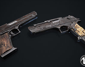 Desert Eagle 3D model game-ready