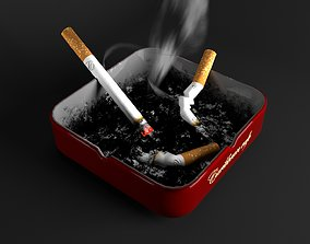 3D model PBR ash AshTray