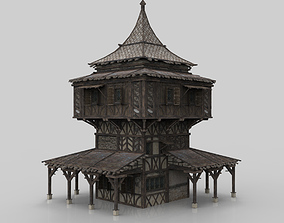 3D asset Medieval house fantasy 09