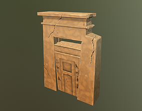 Ancient egyptian pharaohs arch low poly 3D model