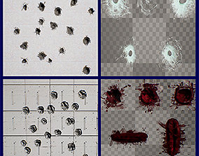 3D model Bullet Hole Decals