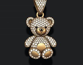 3D printable model Bear pendant with gems