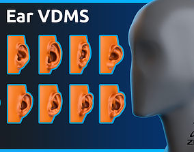 Zbrush - Ear- VDM Brushes 3D model