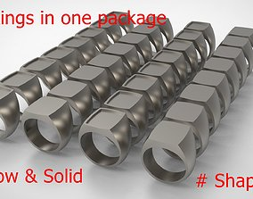 3D printable model Signet Men Ring Pack No 44