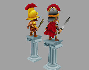 Ancient Free Low Poly Warriors 3D model
