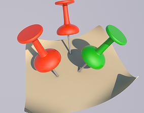 3D writing Push Pin