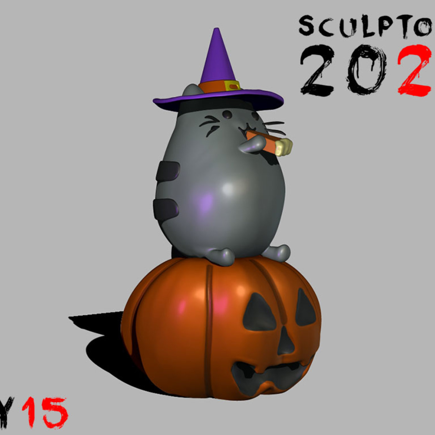 Sculptober DAY 15 Pusheen Cat