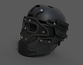 Helmet scifi military combat 3D model PBR