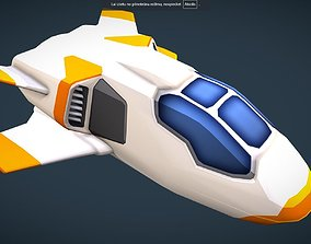 3D model SciFi Space Speeder - Shuttle - for Mobile and 1