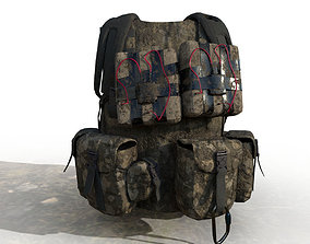 Tactical Explosive vest 3D model