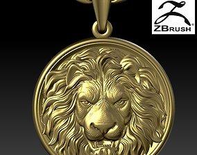 lion head pendant 3D printable model