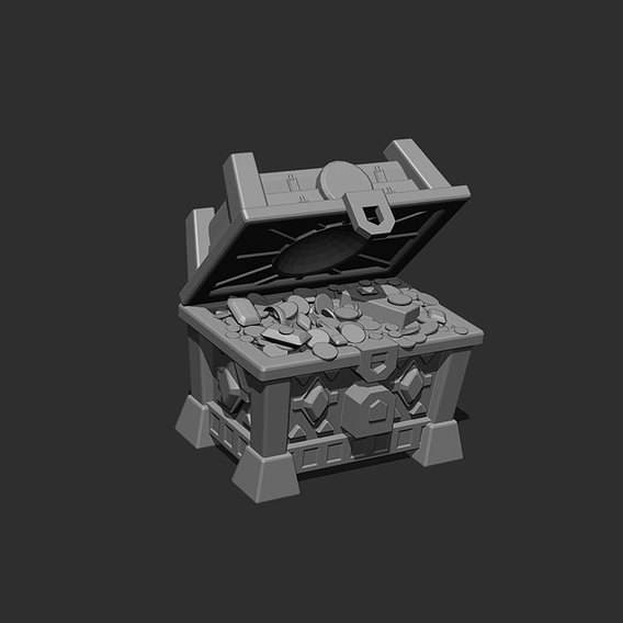 Treasure Chest || Low-poly