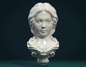 3D printable model Female Face Mascaron