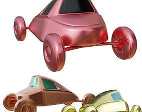 Simple Vintage Cartoon Car many PBR Options 3D asset