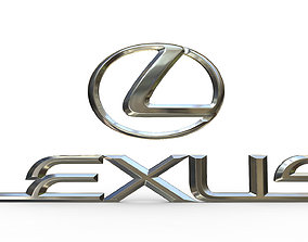 3D model printable lexus logo