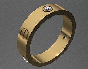 Cartier Style Diamond Ring 3D printable model