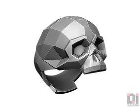 3D print model Polygonal Skull ring jewelry