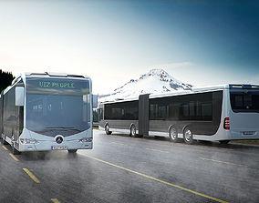 3D City bus city
