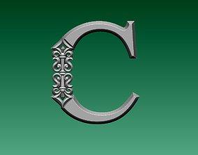 3D print model letter C