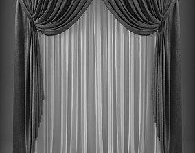 VR / AR ready Curtain 3D model 249